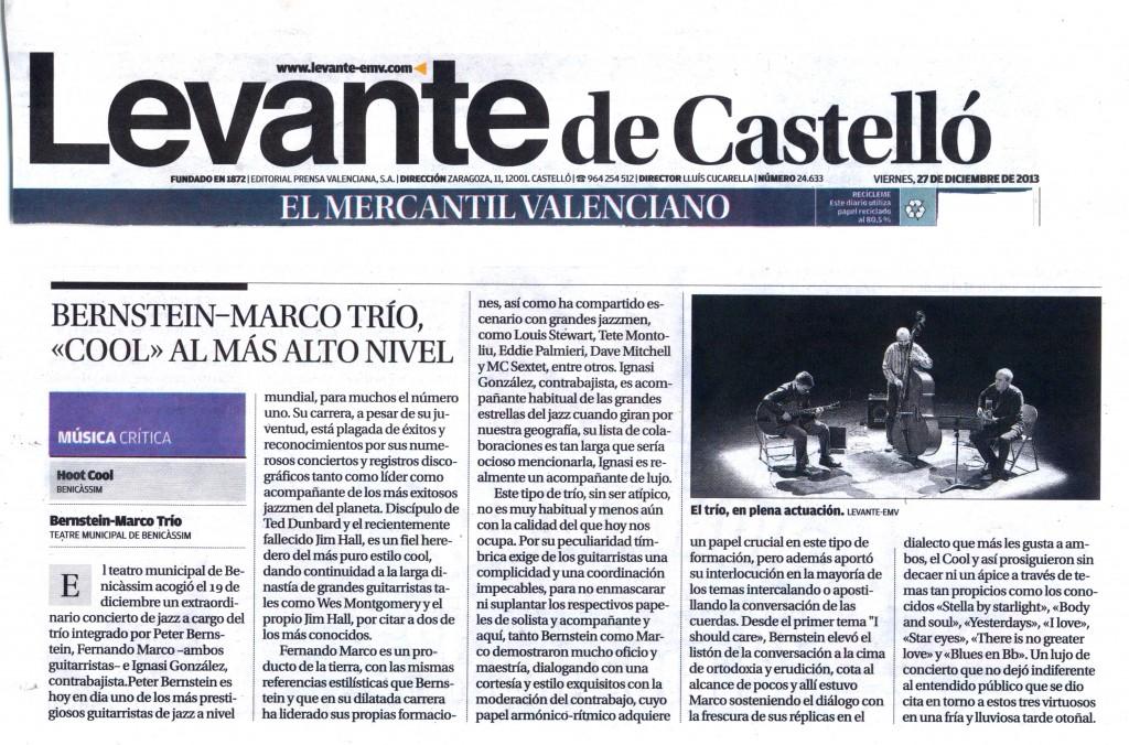 Cronica Levante concierto Bersntein Marco Trio
