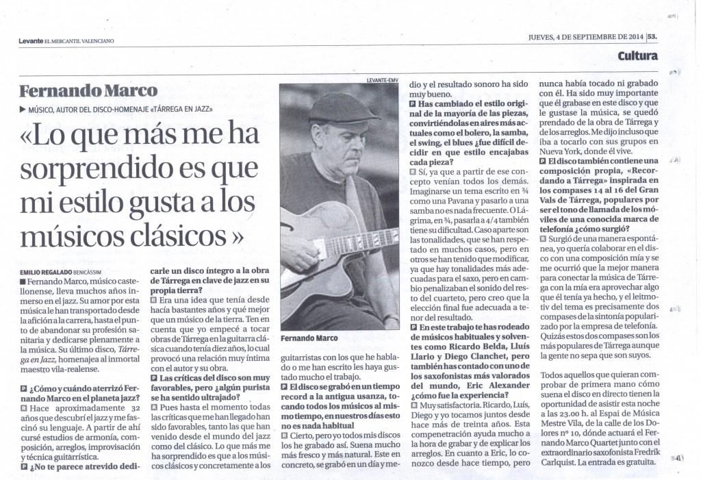 Entrevista Levante 09-2014